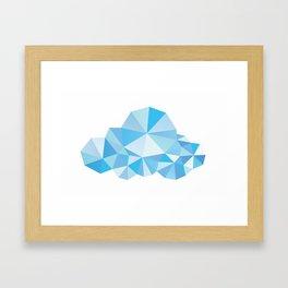 Diamond Clouds in the Sky Pattern Framed Art Print