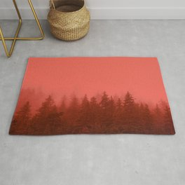 0388 Chocolate Forest with Living_Coral Fog, AK Rug