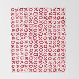 Xoxo valentine's day - red Throw Blanket