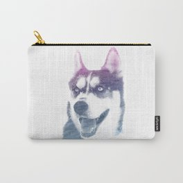 HUSKY SUPERIMPOSED WATERCOLOR Carry-All Pouch