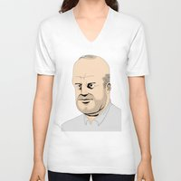 homer V-neck T-shirts featuring Homer by Miguel Villasanta