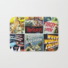 50s Sci-Fi Movie Poster Collage #1 Bath Mat