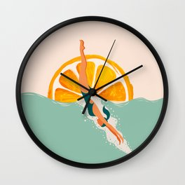 Girl Dive Wall Clock