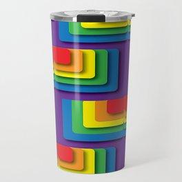 Rainbow Squere Travel Mug