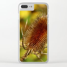 Thistle in Autum Clear iPhone Case