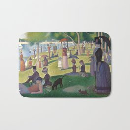 Georges Seurat - A Sunday Afternoon on the Island of La Grande Jatte Bath Mat