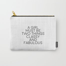 Girls Room Decor Girly Gifts Women Gift Fashion Art Fashion Print Quotes Fashion Wall Art Printable Carry-All Pouch