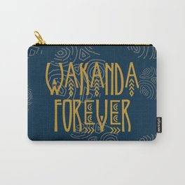 Wakanda Forever Teal Carry-All Pouch