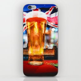 English Beer In A London Pub iPhone Skin