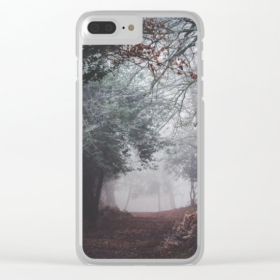 Dark fog forest Clear iPhone Case