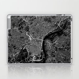 Philadelphia Black Map Laptop & iPad Skin