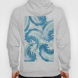 Abstract leaves blue 164 Hoody
