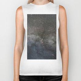 Milky Way, Starry night sky Biker Tank