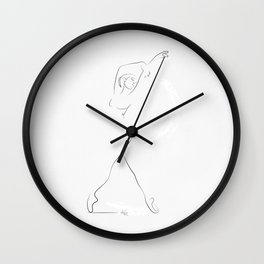 'REMINISCE', Dancer Line Drawing Wall Clock