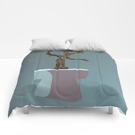 baby groot Comforters