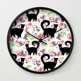 Retro Snobby Cats 2 Wall Clock