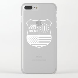 Don't Tread On Me 3 Percenter American Flag Clear iPhone Case