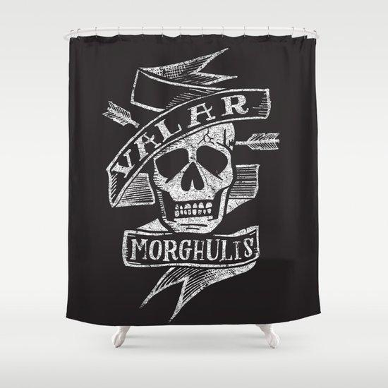 all men must die Shower Curtain