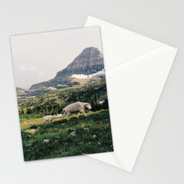 Montana Mountain Goat Family Stationery Cards