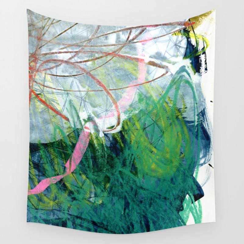 Three Nudies A Week Wall Tapestry by Micromacro TPS6747276