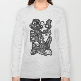 Faces in the Dark Long Sleeve T-shirt
