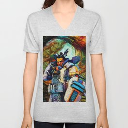Colorful Fortress Unisex V-Neck