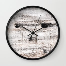 Ghost white abstract watercolor Wall Clock