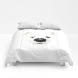 White on white, white on black Comforters