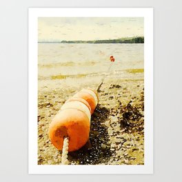 Floats, Lily Bay State Park, Maine Art Print
