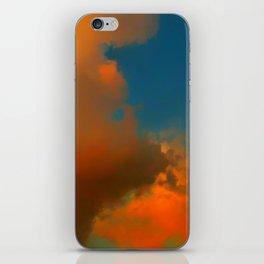 Orange and Blue Skies iPhone Skin