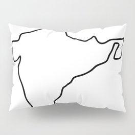 India Indian map Pillow Sham