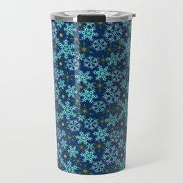 Blue snow , Christmas Travel Mug