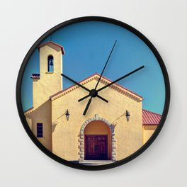 Catholic Church in Creel, Mexico Wall Clock