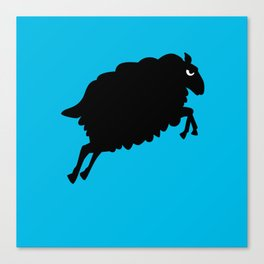 Angry Animals: Sheep Canvas Print