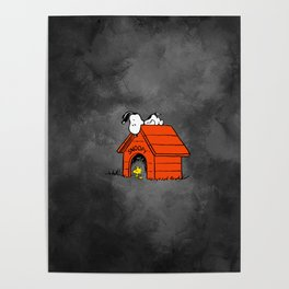snoopy halloween nightmare Poster