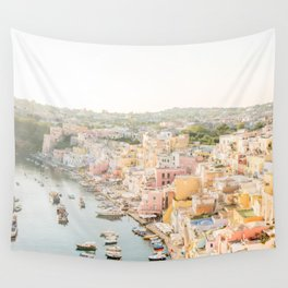 Procida Italy Gorgeous Pastel Architecture Wall Tapestry