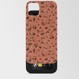 Robin Pink Pattern iPhone Card Case