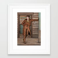 cowboy Framed Art Prints featuring Cowboy by Design Windmill
