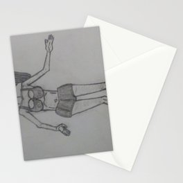 A female physique Stationery Cards
