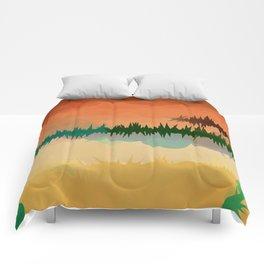 "Digital Abstract Landscape ""Minnesota Memories"" Comforters"