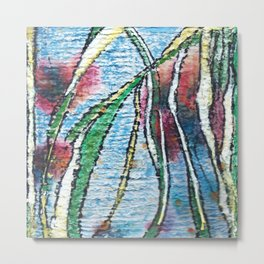 Tall Grasses and Water Metal Print