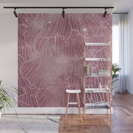 Galaxy rose - deep mauve Wall Mural