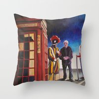 death cab for cutie Throw Pillows featuring Death cab authorized by GaeTano & Valentina