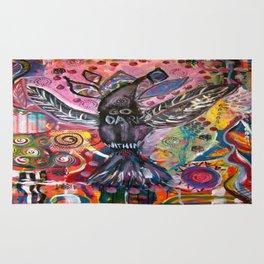 Go Dark Within-Intuitive Raven Bird Rug