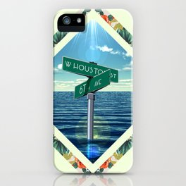 Corner of W. Houston and 6th  iPhone Case