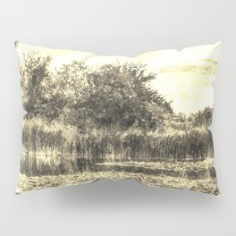 Lilly Pond Vintage Pillow Sham