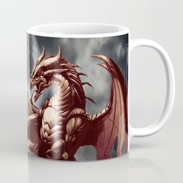 Mystical Dragon and Moon Fantasy Design Coffee Mug
