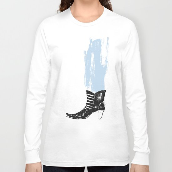 the boot goes on Long Sleeve T-shirt