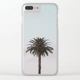 Palm, Minimal, Tropical, Modern, Wall art Clear iPhone Case