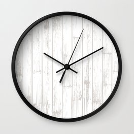 Wooden Planks - White Wall Clock